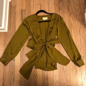 Anthropologie belted blouse